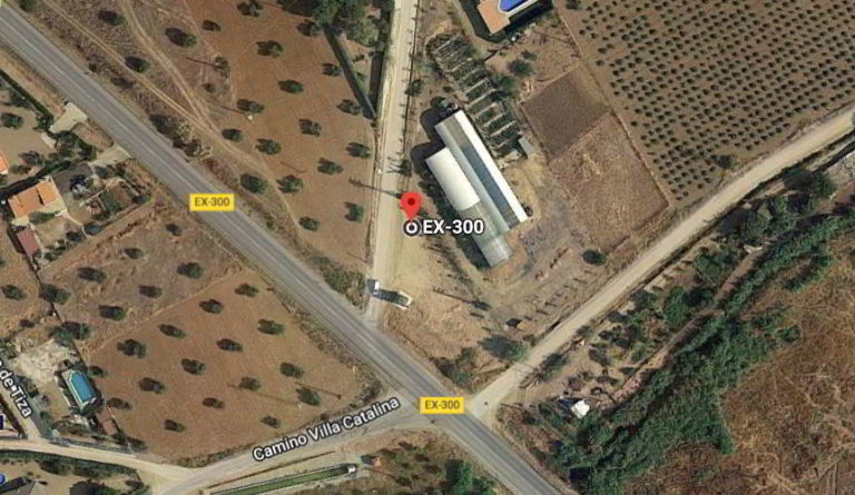 ubicación viveros de tiza Almendralejo
