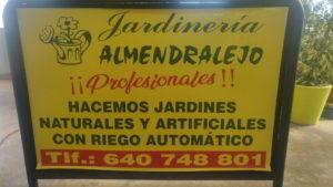 publicidad cartel logotipo viveros de tiza almendralejo