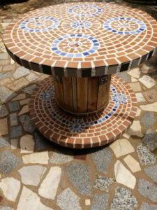 mesa decorativa jarin marron viveros de tiza